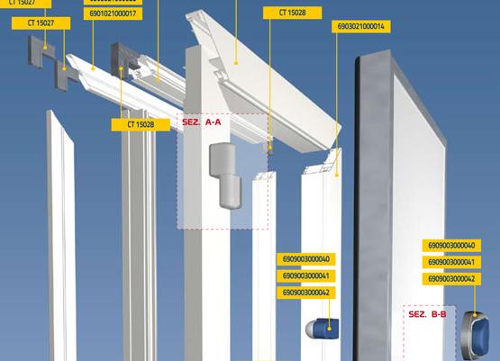 Kit per porte frigorifere industriali e commerciali coldtech - Montaggio porta battente ...