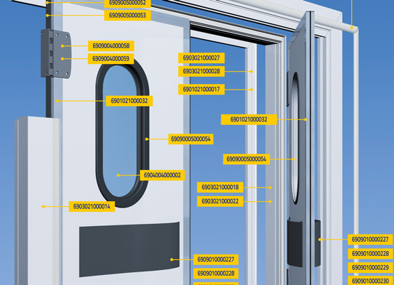 Kit per porte frigorifere industriali e commerciali coldtech - Porte va e vieni per interni ...